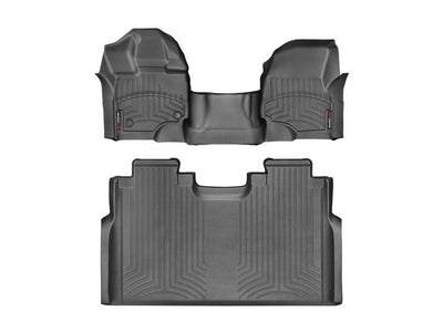 WeatherTech | 447931-446974 | Black Front and Rear Floor Liners for 2015-2017 Ford F150 (With Over The Hump Protection)