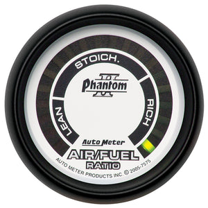 "Autometer | 7575 | Phantom II Series 2 1/16"" Digital Narrowband Air/Fuel Gauge"
