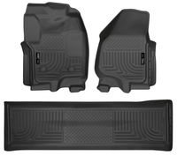 Husky Liners | 99711 | 12-16 Ford F-250 & F-350 Crew Cab WeatherBeater Combo Black Floor Liners