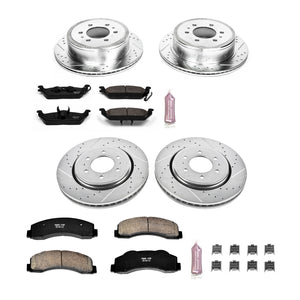Power Stop | K3166 | Z26 Evolution Sport Full Brake Kit For 2010-2011 Ford F150/Raptor (6 Lug Only)