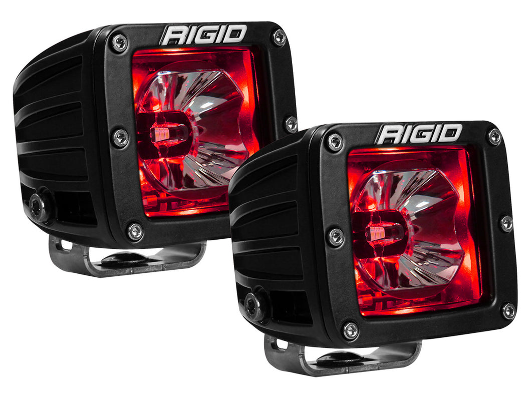 Rigid | 20202 | Radiance Pod Light With RED Background (Pair) - Free Shipping!