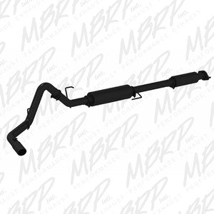 "MBRP | S5256BLK | 3"" Black finish cat back single side exit w/tip 