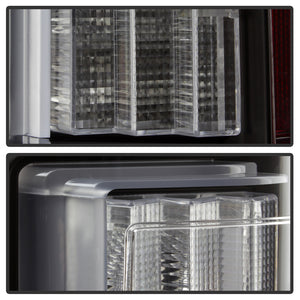 Spyder | 5083487 | Black with Clear Lenses LED Tail Lights Fits 2015-2017 Ford F150