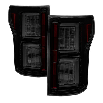 Spyder | 5083685 | Black with Smoked Lenses LED Tail Lights Fits 2015-2017 Ford F150
