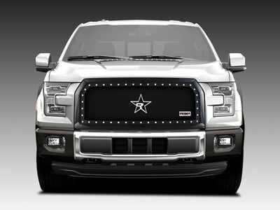 RBP RX-5 Halo Series Studded Frame 1pc. Grille 15-17 Ford F-150 All Models (OE Replacement) - Black