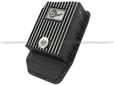 aFe Power Transmission Pan Black Machined 09-14 Ford 6R80 F-150 Trucks