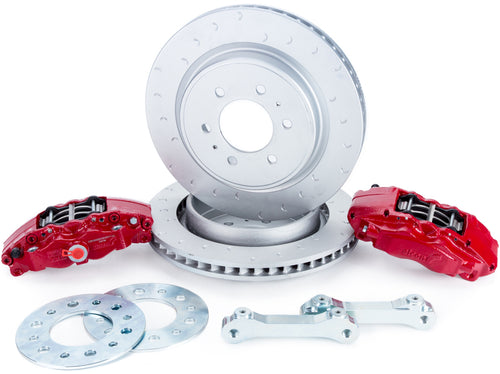 Alcon 2010+ Ford F-150 360x32mm Rotors 4-Piston Red Calipers Rear Brake Upgrade Kit