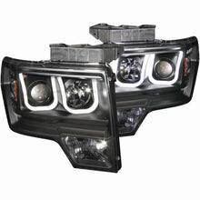 ANZO | 111263 | 2009-2014 Ford F-150 Projector Headlights w- U-Bar Black