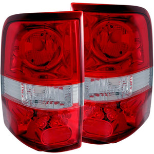 ANZO 2004-2008 Ford F-150 Taillights Red-Clear - LED Style