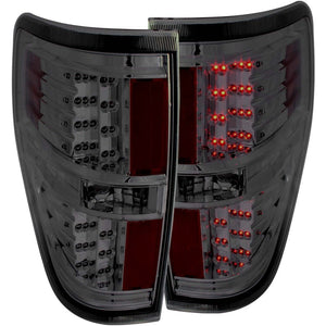 ANZO 2009-2014 Ford F-150 LED Taillights Smoke