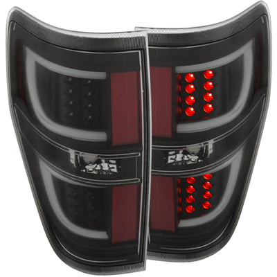 ANZO 2009-2013 Ford F-150 LED Taillights Black