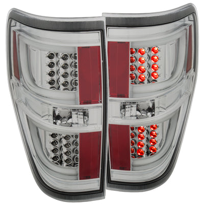 ANZO 2009-2013 Ford F-150 LED Taillights Chrome