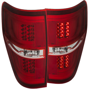 ANZO 2009-2013 Ford F-150 LED Taillights Red-Clear