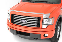 AVS 09-14 Ford F-150 (Excl. Raptor) Aeroskin Low Profile Hood Shield - Chrome