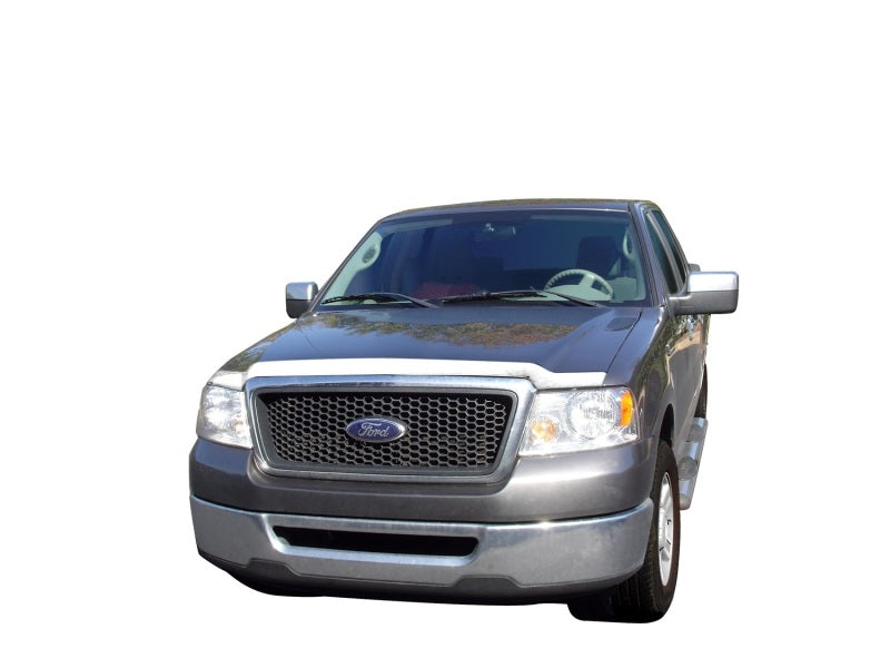 AVS 04-08 Ford F-150 Aeroskin Low Profile Hood Shield - Chrome
