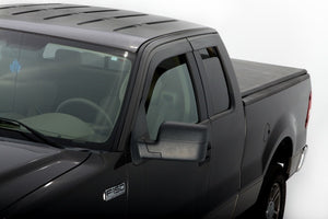 AVS 04-14 Ford F-150 Supercab Ventvisor Low Profile Deflectors 4pc - Smoke