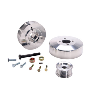 BBK 97-04 Ford F150 Expedition 4.6 5.4 Underdrive Pulley Kit - Lightweight CNC Billet Aluminum (3pc)