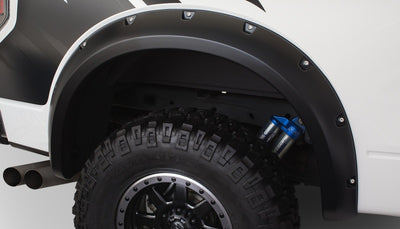 Bushwacker 10-14 Ford F-150 SVT Raptor Pocket Style Flares 2pc - Black