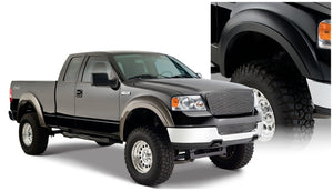 Bushwacker 04-08 Ford F-150 Styleside Extend-A-Fender Style Flares 4pc 66.0-78.0-96.0in Bed - Black