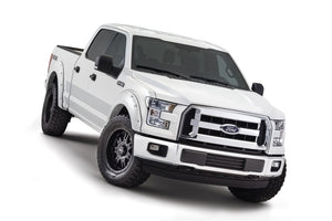 Bushwacker 16-17 Ford F-150 Styleside Pocket Style Flares 4pc 78.9-67.1-97.6in Bed - Oxford White