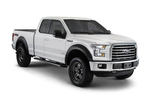 Bushwacker 15-17 Ford F-150 Styleside Extend-A-Fender Style Flares 4pc 67.1-78.9-97.6in Bed - Black