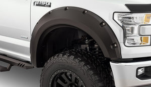 Bushwacker 15-17 Ford F-150 Max Pocket Style Flares 4pc 78.9-67.1-97.6in Bed - Black