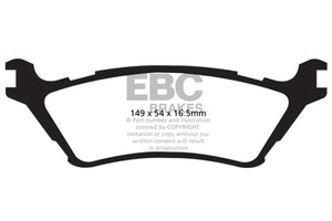 EBC 15+ Ford F150 2.7 Twin Turbo (2WD) Extra Duty Rear Brake Pads