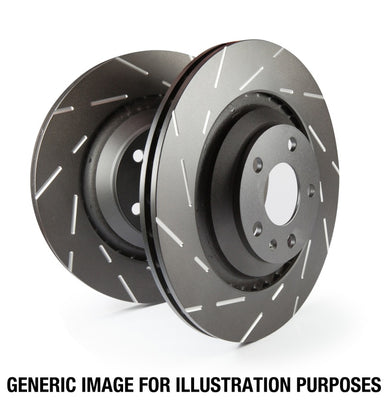 EBC | USR7603 | 15+ Ford F150 2.7 Twin Turbo (2WD) USR Slotted Rear Rotors