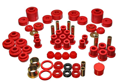 Energy Suspension 80-96 Ford F150 Std-Extra Cab Pickup Red Hyper-Flex Master Bushing Set