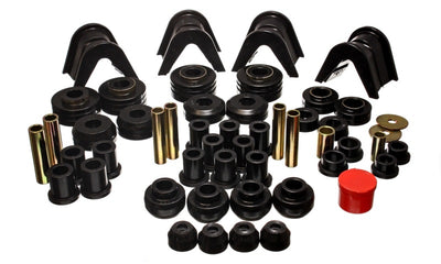 Energy Suspension 73-79 Ford F-150 Pickup w- 2 Degree C-Bushing Black Hyper-Flex Master Bushing Set
