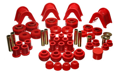 Energy Suspension 73-79 Ford F-150 Pickup w- 2 Degree C-Bushing Red Hyper-Flex Master Bushing Set
