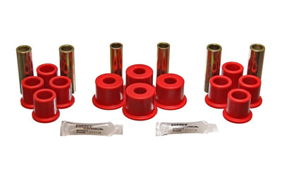 Energy Suspension 8-81-96 Ford F100-F150 2WD Red Rear Leaf Spring Bushing Set