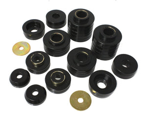Energy Suspension 80-98 Ford F250-F350 - 80-92 Ford F100-F150 - 85-98 Ford F450 Black Body Mount Set