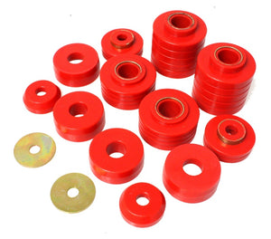 Energy Suspension 80-98 Ford F250-F350 - 80-92 Ford F100-F150 - 85-98 Ford F450 Red Body Mount Set