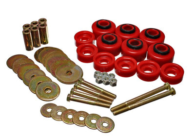 Energy Suspension 97-03 Ford F-100-F-150 2WD-F250 2WD & L-Duty Red Body (Cab) Mount Set