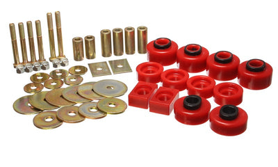 Energy Suspension 97-03 Ford F-100-F-150 2WD-F250 2WD & L-Duty Red Body (Ext Cab ONLY ) Mount Set