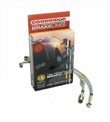 Goodridge 12-98-03 Ford F-150 4WD 1-2 Ton w-Rear Wheel ABS 2in Extended Line SS Brake Line Kit