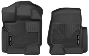 Husky Liners 2015 Ford F-150 SuperCrew Cab X-Act Contour Black Front Seat Floor Liners