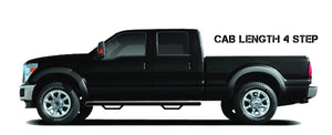 N-Fab Nerf Step 01-03 Ford F-150 SuperCrew - Gloss Black - Cab Length - 3in