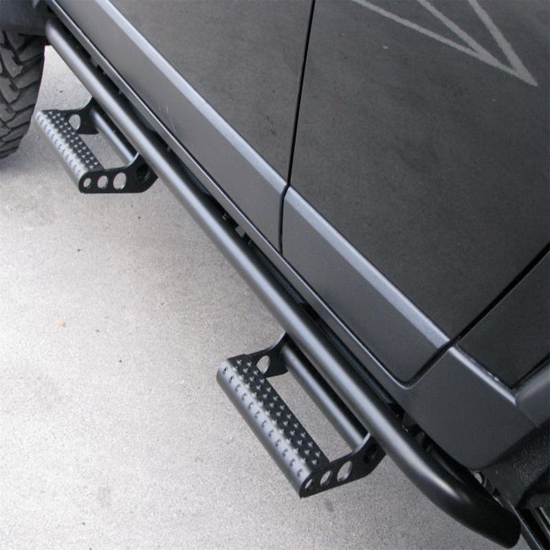 N-Fab RKR Step System 2017 Ford Raptor SuperCrew 5.5ft Bed - Tex. Black - 1.75in