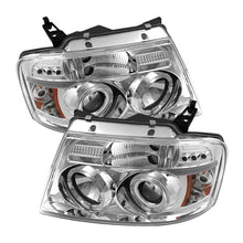 Spyder | 5010216 | Ford F150 04-08 Projector Headlights Version 2 LED Halo LED Chrm PRO-YD-FF15004-HL-G2-C