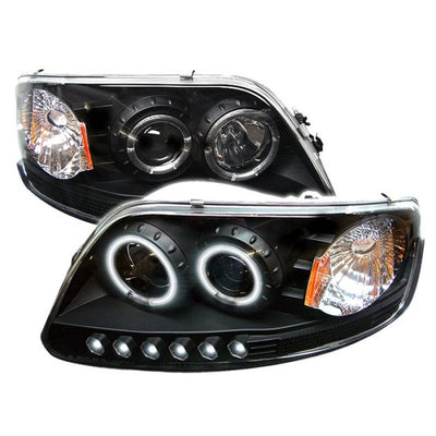 Spyder Ford F150 97-03-Expedition 97-02 1PC Projector - CCFL Halo LED Blk PRO-YD-FF15097-1P-CCFL-BK