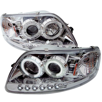 Spyder | 5010308 | Ford F150 97-03-Expedition 97-02 1PC Projector - CCFL Halo LED Chome PRO-YD-FF15097-1P-CCFL-C