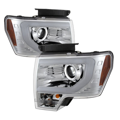 Spyder | 5077639 | Ford F150 13-14 Projector Fctry Xenon Model- Light Bar DRL Chrm PRO-YD-FF15013-LBDRL-HID-C