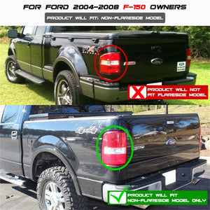 Spyder Ford F150 side 04-08 (Not Fit Heritage & SVT)LED Tail Lights Blk Smke ALT-YD-FF15004-LED-BSM
