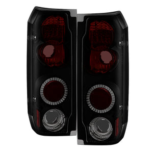 Spyder Ford F150 87-96-Ford Bronco 88-96 Euro Style Tail Lights Black Smoke ALT-YD-FF15089-BSM