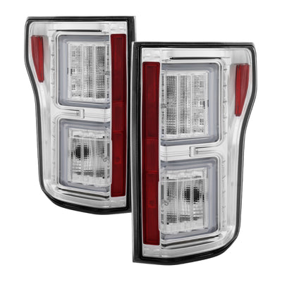 Spyder Ford F150 2015-2017 Light Bar LED Tail Lights - Chrome ALT-YD-FF15015-LBLED-C