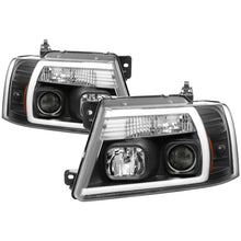 Spyder 04-08 Ford F-150 Projector Headlights - Light Bar DRL - Black PRO-YD-FF15004V2-LB-BK