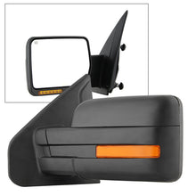 Xtune Ford F150 07-14 Power Heated Amber LED Signal OE Mirror Left MIR-03349EH-P-L