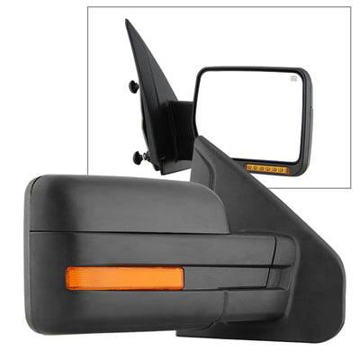 Xtune Ford F150 07-14 Power Heated Amber LED Signal OE Mirror Right MIR-03349EH-P-R